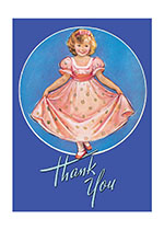 Little Girl Curtseying (Thank You Greeting Cards)