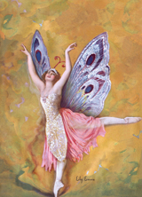 Winged Ballerina Dancing (Women Greeting Cards)
