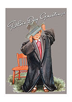 Boy in Big Coat (Father's Day Greeting Cards)