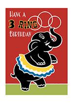 Circus Elephant (Birthday Greeting Cards)