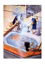 Adventures at the Sink (Weird & Wonderful Art Prints)