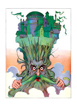 The Royal Palace of Oz on a Wizard's Head (Weird & Wonderful Greeting Cards)