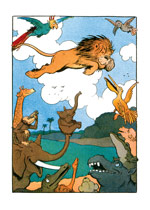 Leaping Lion (Weird & Wonderful Greeting Cards)