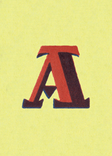 Shaded A-Blank (Vintage Typography Graphic Design Greeting Cards)