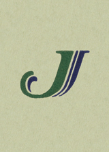 Green & Black J (Vintage Typography Graphic Design Greeting Cards)