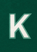Green K (Vintage Typography Graphic Design Art Prints)