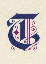 Blackletter T (Vintage Typography Graphic Design Greeting Cards)