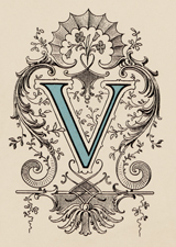 Victorian V (Vintage Typography Graphic Design Art Prints)