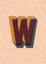 W (Vintage Typography Graphic Design Greeting Cards)