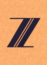Z (Vintage Typography Graphic Design Greeting Cards)