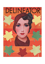 A Woman With Autumn Leaves (1930s Fashion Fashion Art Prints)