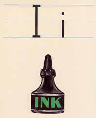 I - Inkwell (Vintage Typography Graphic Design Greeting Cards)