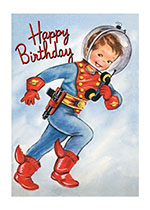 Boy Astronaut (Birthday Greeting Cards)