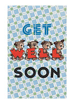Little Dogs Sending Good Thoughts (Get Well Greeting Cards)