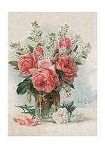 Vase of Roses (Friendship Greeting Cards)