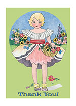 Thank You Flower Girl (Thank You Greeting Cards)