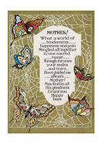 Mother! Poem - With Butterflies (Mother's Day Greeting Cards)