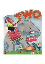 Monkey on Elephant - 2nd Birthday (Birthday Greeting Cards)