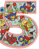 Fairies Riding Birds - 5th Birthday