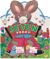 Rabbit w/ Accordion (Birthday Greeting Cards)