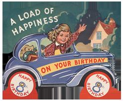 Girl Driving Car - 8th Birthday