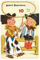 Cowboy & Cowgirl - 10th Birthday