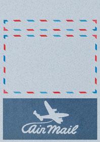 Swirly Aeroplane Blue