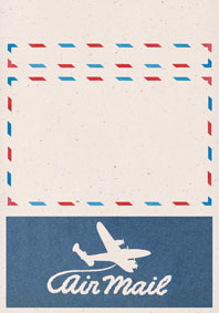Swirly Aeroplane Cream (Aerogram Self Mailer Travel Greeting Cards)