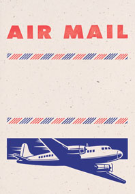 Big Old Jet Airliner Cream (Aerogram Self Mailer Travel Greeting Cards)