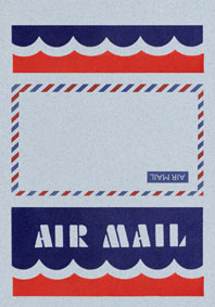 Air Mail Scallops Blue (Aerogram Self Mailer Travel Greeting Cards)