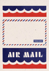 Air Mail Scallops Cream (Aerogram Self Mailer Travel Greeting Cards)