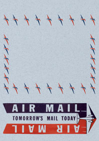 Air Mail: Tomorrow's Mail Today Blue (Aerogram Self Mailer Travel Greeting Cards)