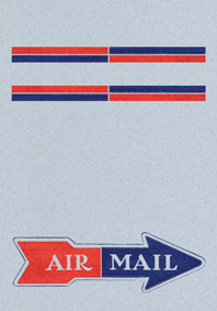 Air Mail Arrow Blue (Aerogram Self Mailer Travel Greeting Cards)