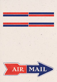 Air Mail Arrow Cream (Aerogram Self Mailer Travel Greeting Cards)