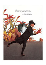 Winged Skater With Flowers (Encouragement Greeting Cards)