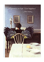 Winged Woman at Piano (Encouragement Greeting Cards)
