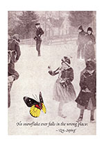 Skaters and Butterfly (Encouragement Greeting Cards)