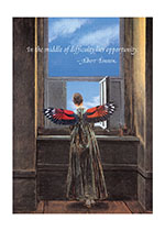 Winged Woman At Window (Encouragement Greeting Cards)