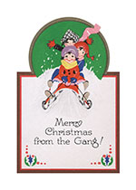 Christmas Sledding (Children Enjoying Christmas Greeting Cards)