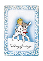 Angel Riding Baby Reindeer (Many More Christmas Greeting Cards)