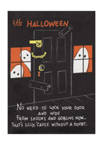Halloween Ghosts Behind The Door