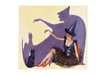 Halloween Pretty Witch (Classic Halloween Art Prints)