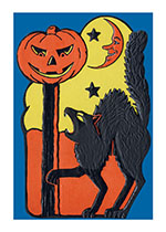 Halloween Fierce Cat (Classic Halloween Art Prints)