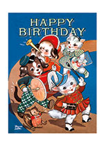 Adorable Animal Marching Band (Birthday Greeting Cards)