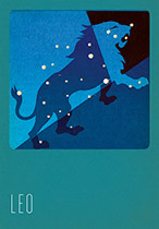 Leo Silk Screened (Zodiac Greeting Cards)