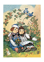Raggedy Ann & Andy Hugging (Dolls Art Prints)