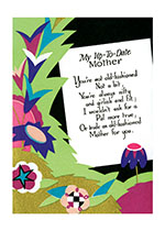 My Up To Date Mother - Poem With Groovy Flowers (Mother's Day Greeting Cards)
