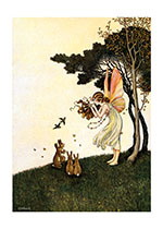 Fairy Playing Pipes to Animals