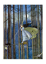 Witch On Her Broomstick (Ida R. Outhwaite Fairies Greeting Cards)