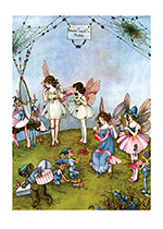 Fairy Dress Shop (Ida R. Outhwaite Fairies Greeting Cards)